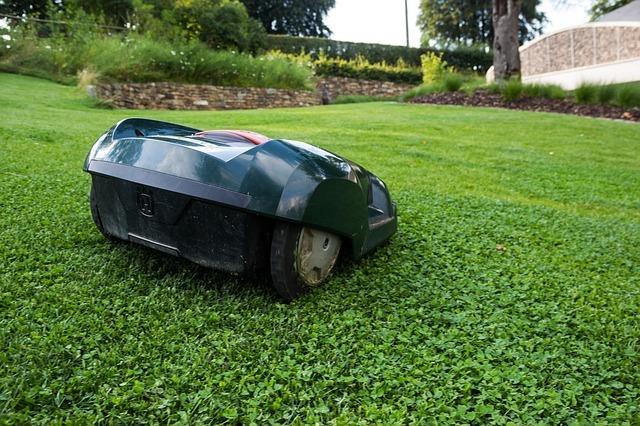 Une tondeuse automatique pour une pelouse nickel