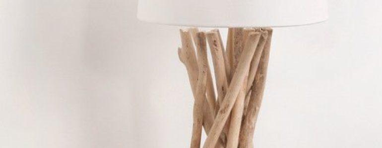 Lampe en bois flotté DIY