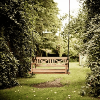 Balancelle en bois de jardin