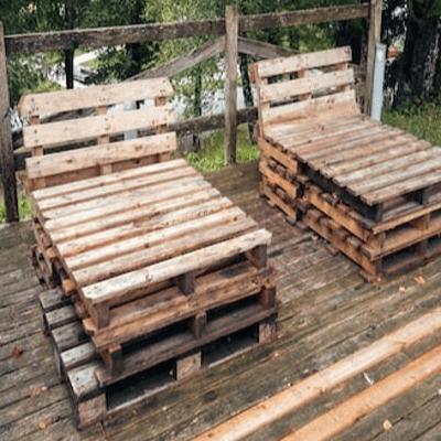 Transat extérieur en palette de bois