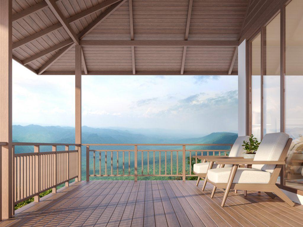 terrasse de maison en bois