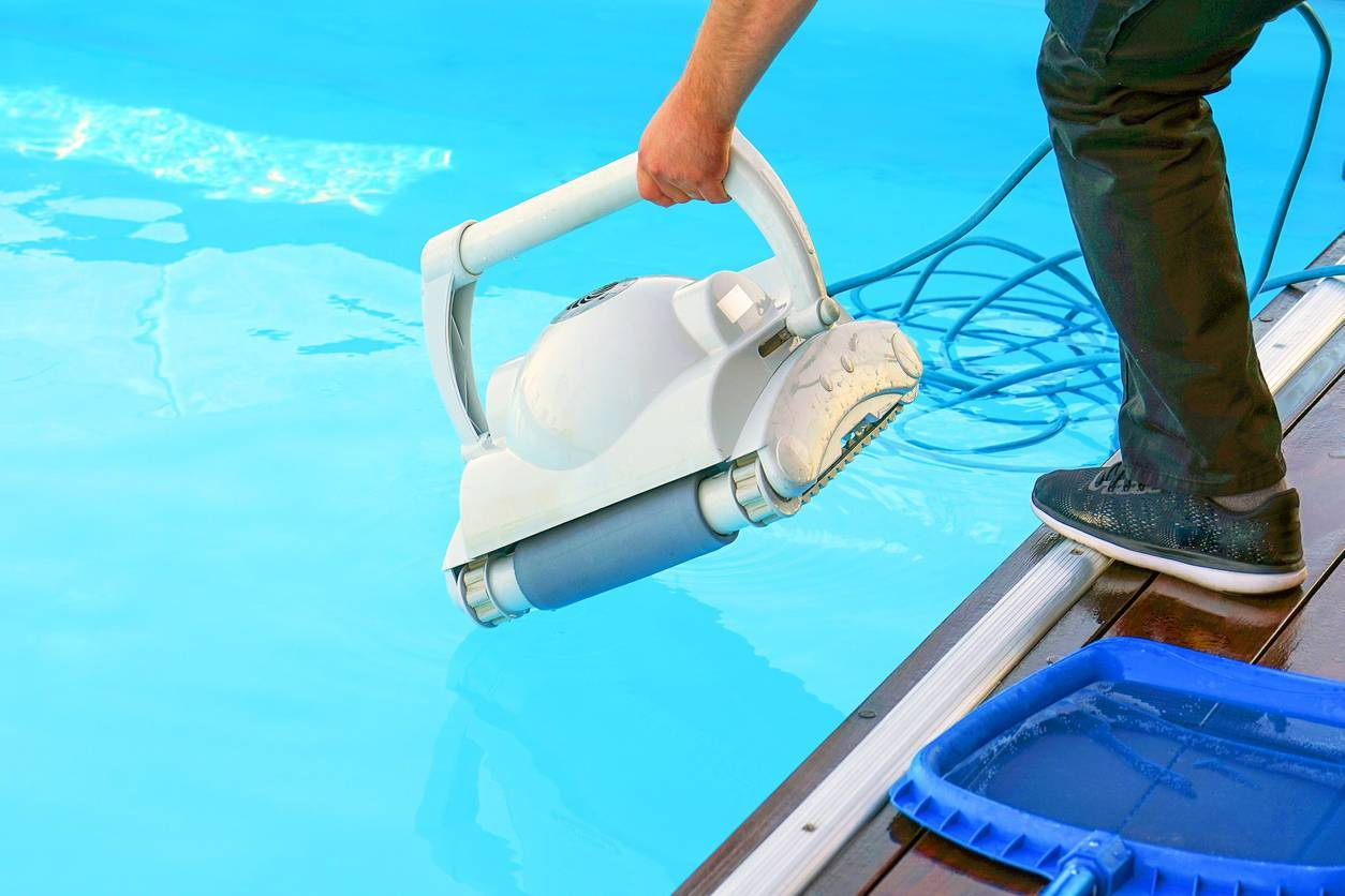 robot piscine enterrée hors-sol